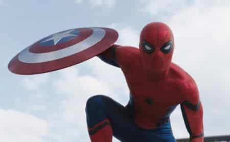 Tom Holland in Captain America: Civil War.