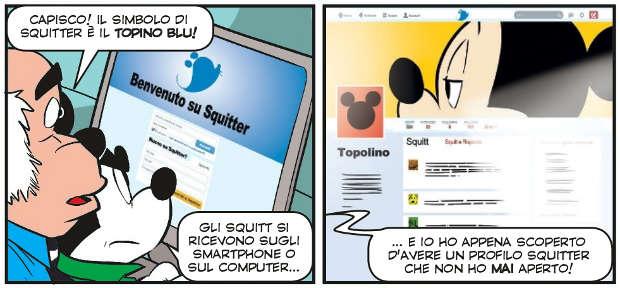 Il profilo fake di Topolino da La sfida all'ultimo squitt