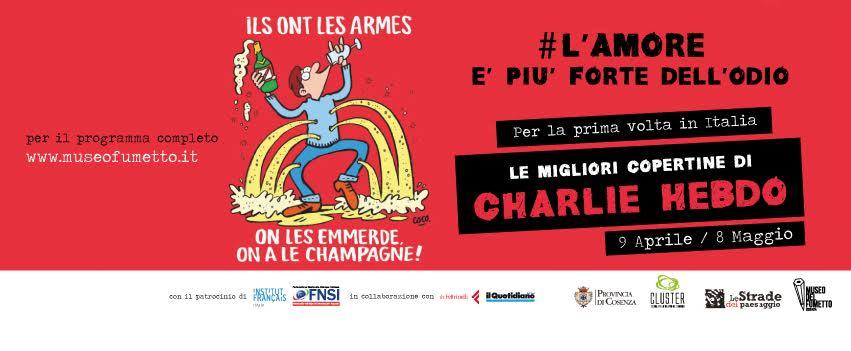 Mostra su Charlie Hebdo al Museo del Fumetto di Cosenza