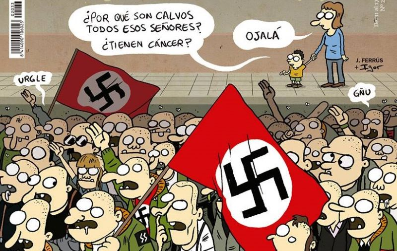 El Jueves plaga de nazi