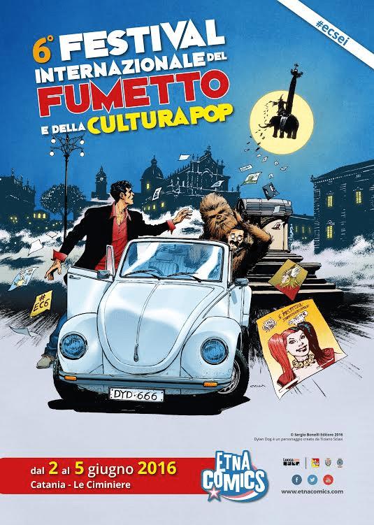 Lunedì presentazione ufficiale di Etna Comics 2016