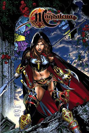 llustrazione di copertina per il volume di Magadalena che raccoglie le due miniserie del personaggio © Top Cow Productions.