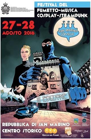 San Marino Comics, terza edizione, 27-28 agosto 2016