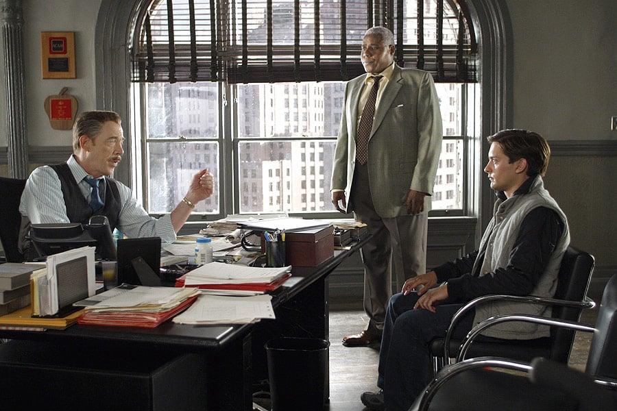 Bill Nunn con Tobey Maguire e J.K. Simmons.