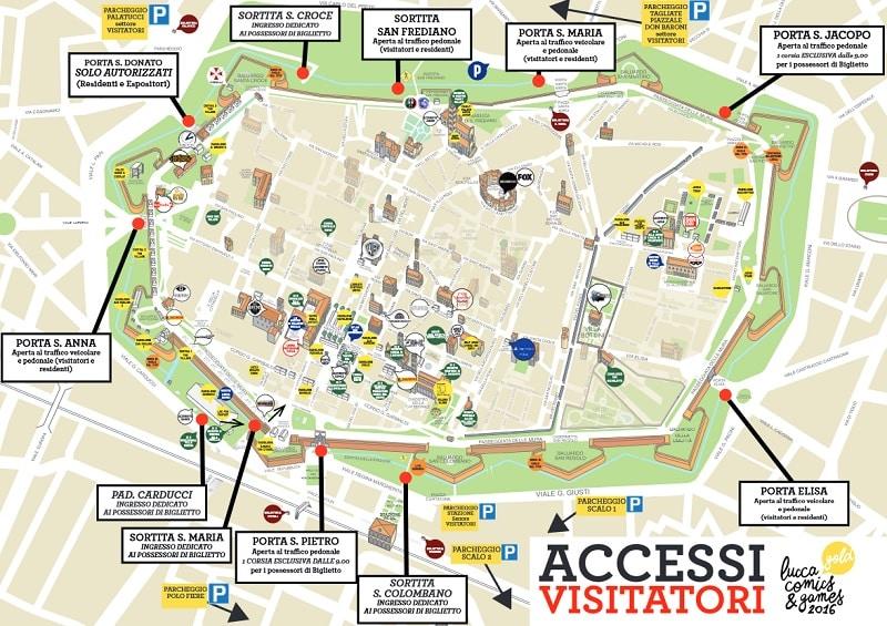 Lucca Easy: l'accesso al Centro Storico durante Lucca Comics