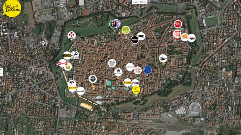 Il programma e la mappa di Lucca Comics&Games 2016
