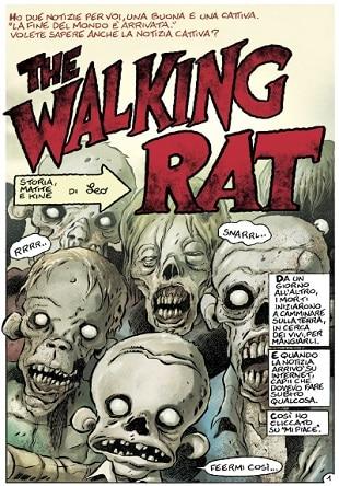 """""""The Walking Rat"""" a Lucca con Leo Ortolani e Cecilia Strada di Emergency"""