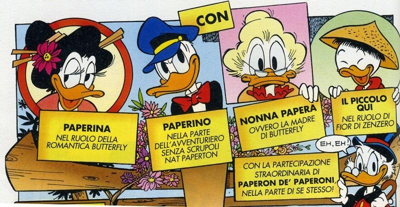 Un fil di fumetto – Il mito e le opere di Giacomo Puccini a fumetti - Paperino-e-la-piccola-butterfly-00