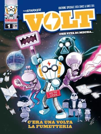VOLT - Che vita di Mecha #1 (Stefano Conte) - Volt_01_cover_variant_LSB