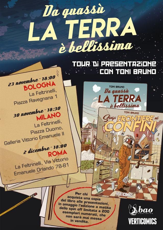 Toni Bruno in tour per BAO