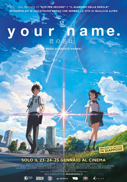 Esce al cinema l'anime Your Name, di Makoto Shinkai