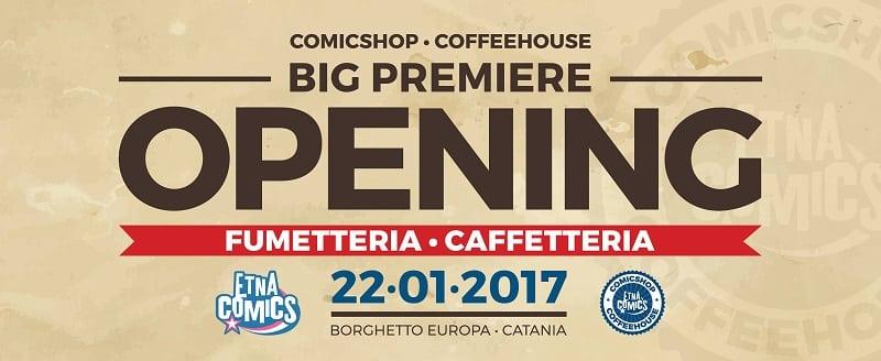 Apre il Comicshop-Coffeehouse ufficiale di Etna Comics