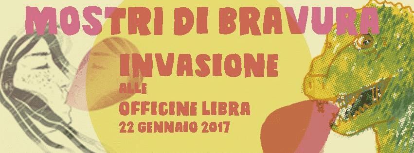 """""""Mostri di bravura"""" collettiva 18 illustratori a Officine Libra"""