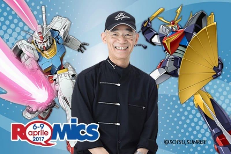 Yoshiyuki Tomino, il padre di Gundam, al Romics 2017