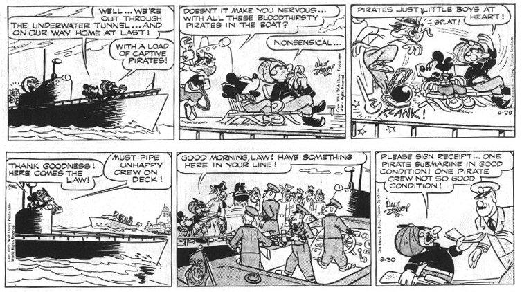 Alla scoperta del Mickey Mouse a strisce: 1945-1955