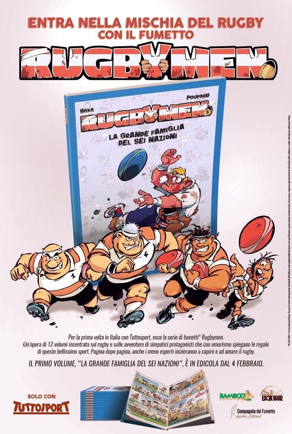 Arriva in Italia la serie francese culto a fumetti Les Rugbymen