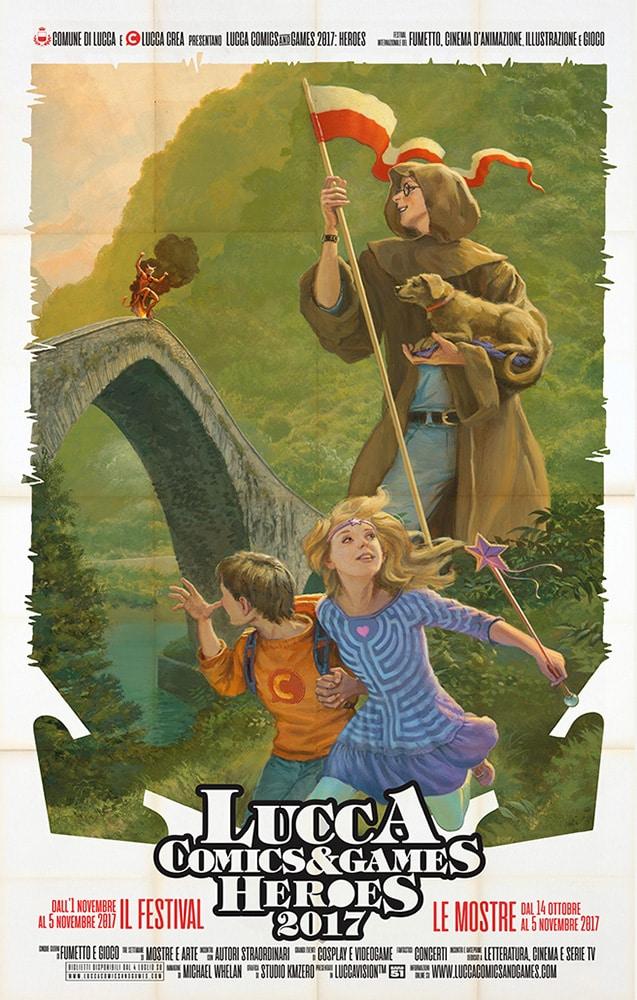 Il poster di Lucca Comics & Games 2017