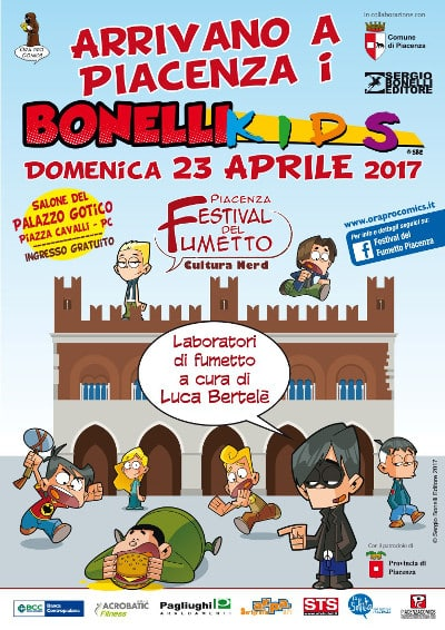 Il programma del Festival del fumetto di Piacenza