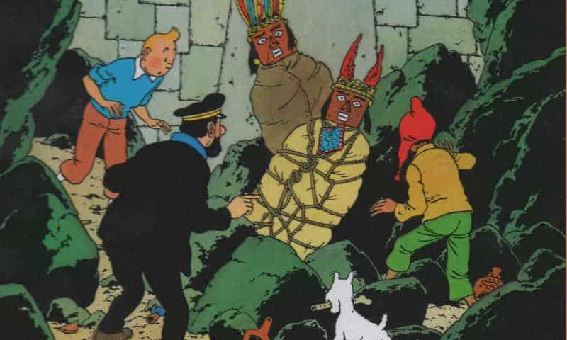 Tintin torna in Sudamerica e scopre il tempio del Sole