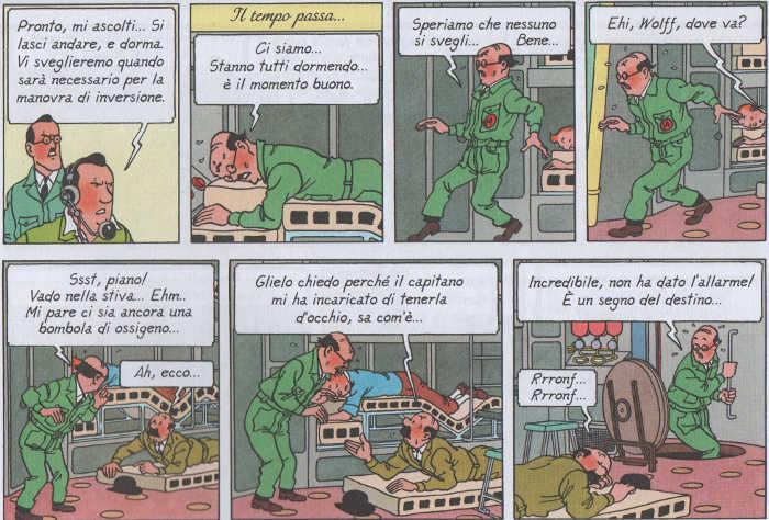 Gli uomini sulla Luna di Hergé portano con sé gli odi della Terra