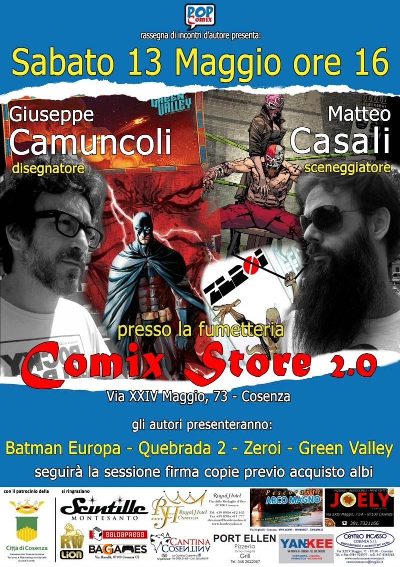 Batman Europa a Cosenza con Camuncoli e Casali