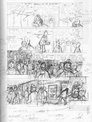 Alla fine del suo viaggio, Tintin incontra l'Alph-Art
