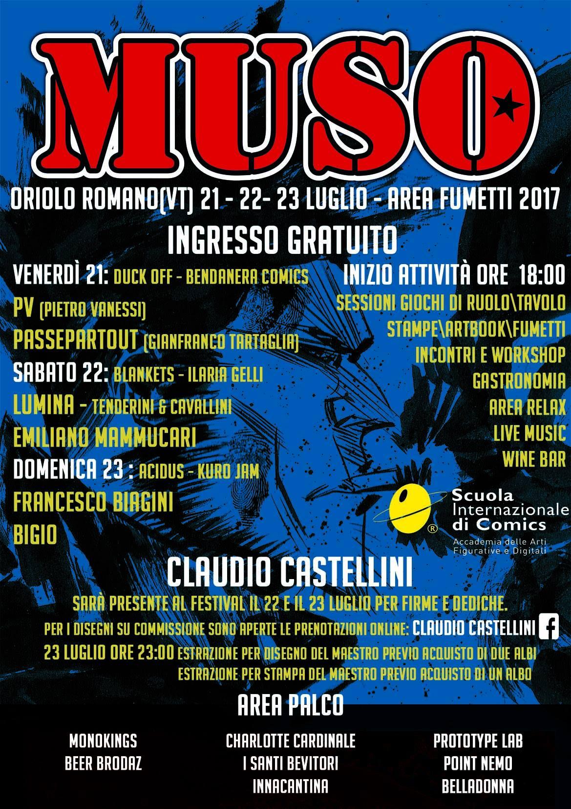 Muso Festival 2017: spazio al fumetto