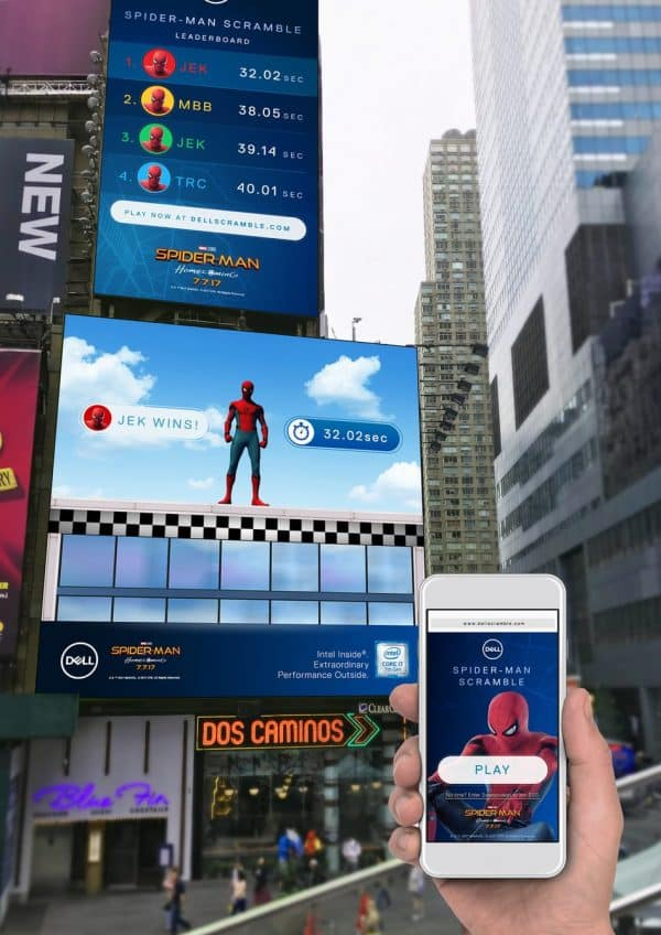 Dell Spider-man Times Square Game