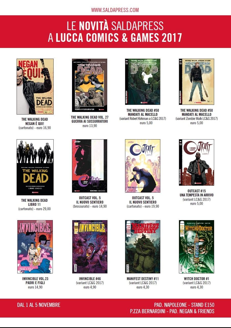 SALDAPRESS: tutte le novità di Lucca Comics & Games 2017