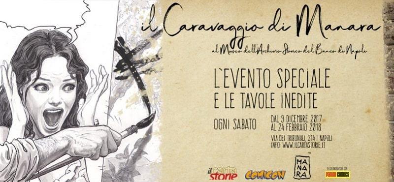 Caravaggio di Milo Manara presso ilCartastorie a Napoli