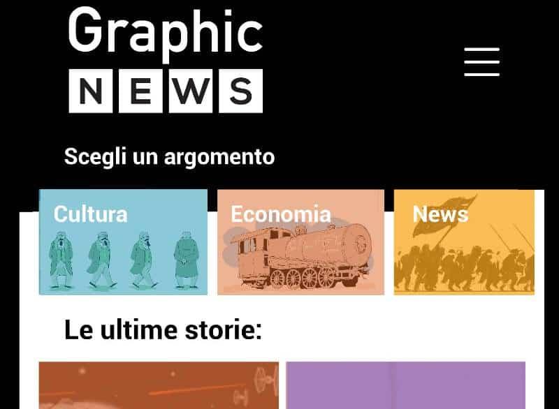 Graphic News: nuovo sito e un'app per il giornalismo a fumetti