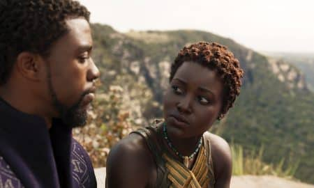 Marvel Studios' BLACK PANTHERL to R: T'Challa/Black Panther (Chadwick Boseman) and Nakia (Lupita Nyong'o)Ph: Film Frame©Marvel Studios 2018