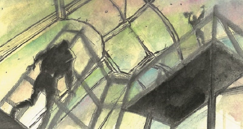 Una parete perfetta? Michelangelo abbozzato a fumetti