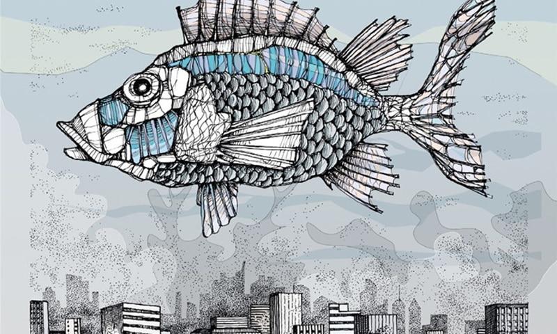 Sanguedalnaso, una favola sociale fra ambigrammi e pesci giganti