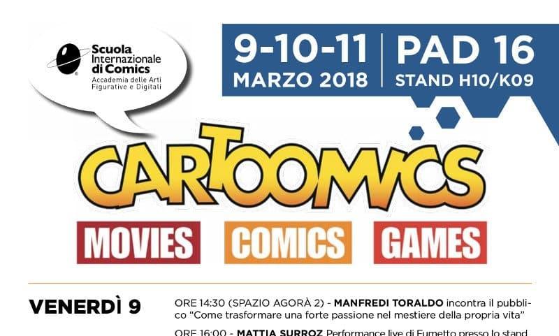 Scuola Internazionale di Comics a Cartoomics 2018