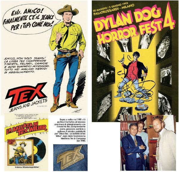 Iniziative bonelliane negli anni, dal merchandising legato a Tex al cinema con il Dylan Dog Horror Fest