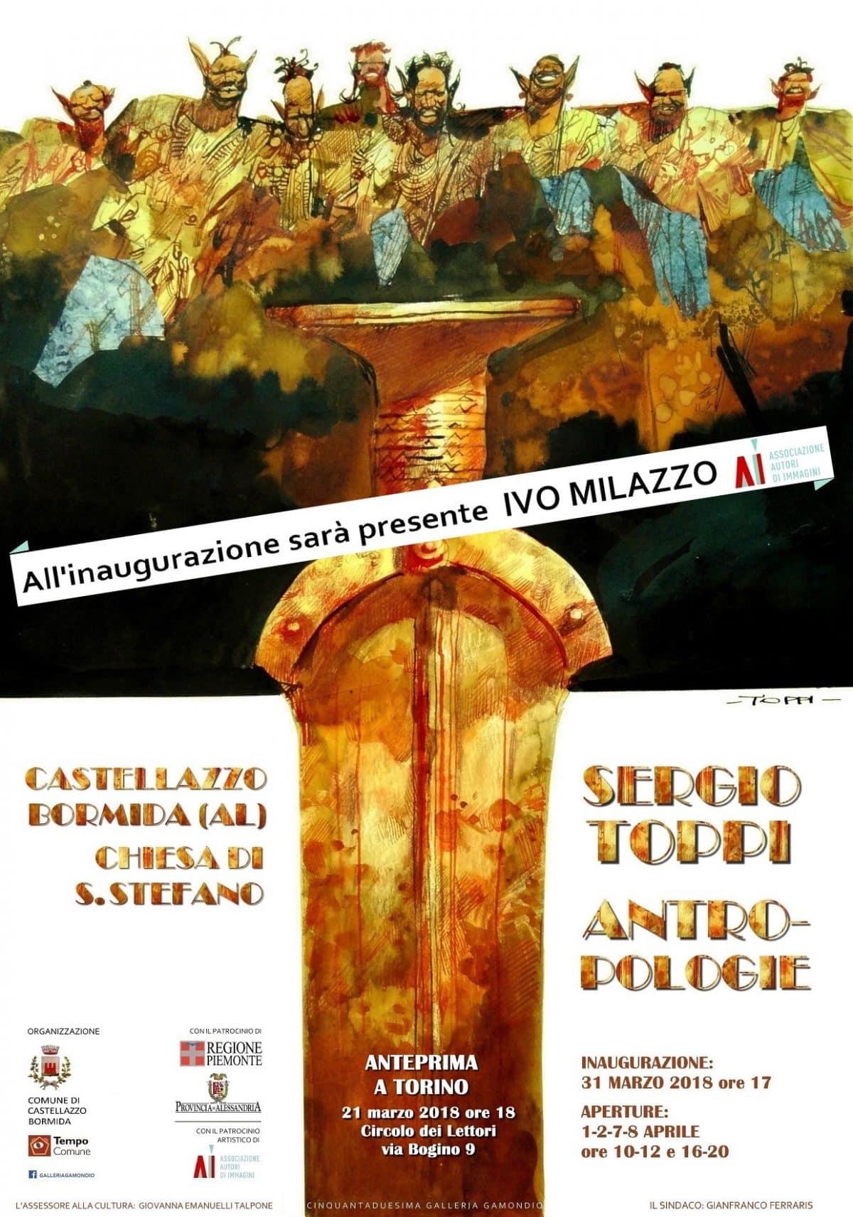 Il 31 marzo si inaugura la mostra Sergio Toppi – Antropologie