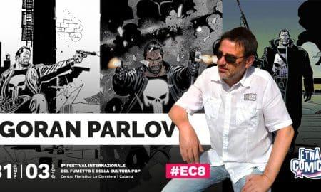 Locandina annuncio Goran Parlov ad Etna Comics 2018