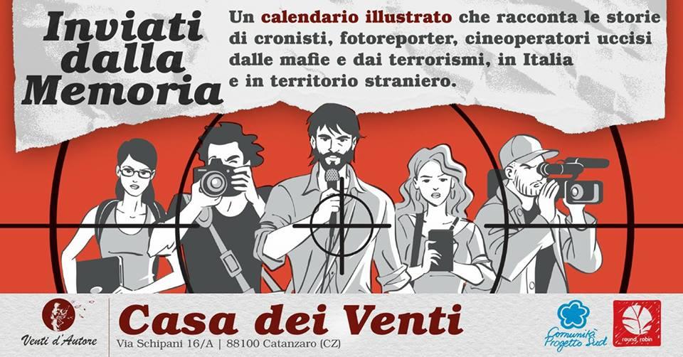 Un calendario illustrato per ricordare i giornalisti uccisi