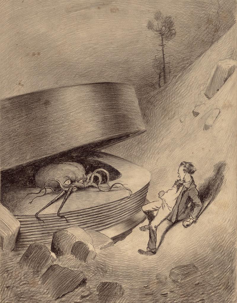 Illustrazione di Henrique Alvim Corrêa per l'edizione de La Guerra dei M...