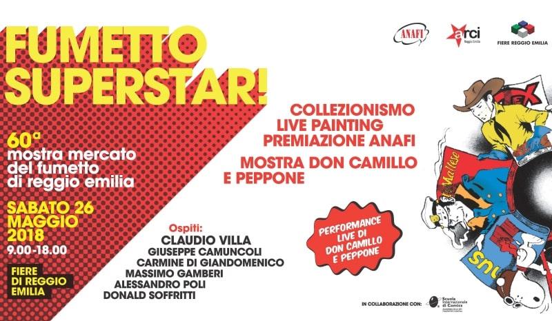Mostra Mercato del Fumetto a Reggio Emilia, 60a edizione