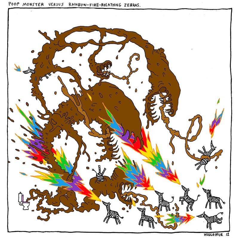 poop-monster-vs-zebra-dagsson