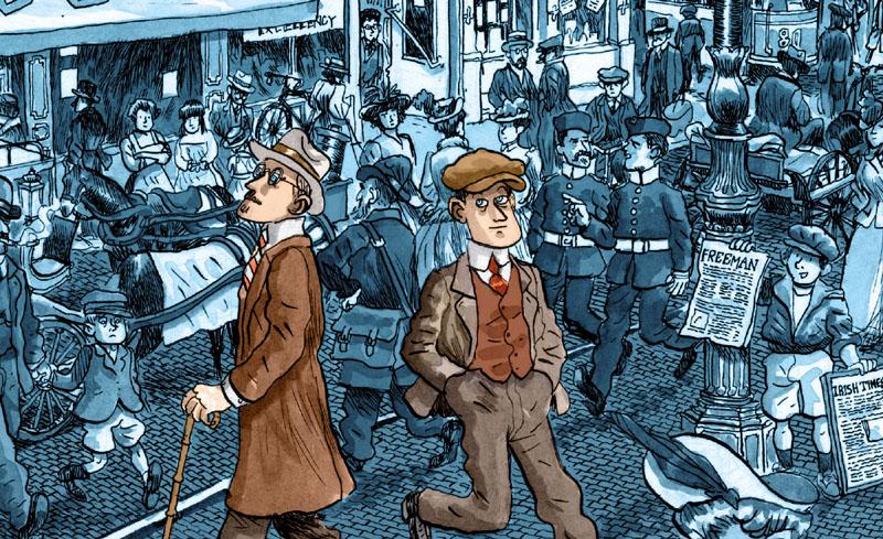 Joyce a fumetti nell'opera di Zapico in uscita per 001 Edizioni