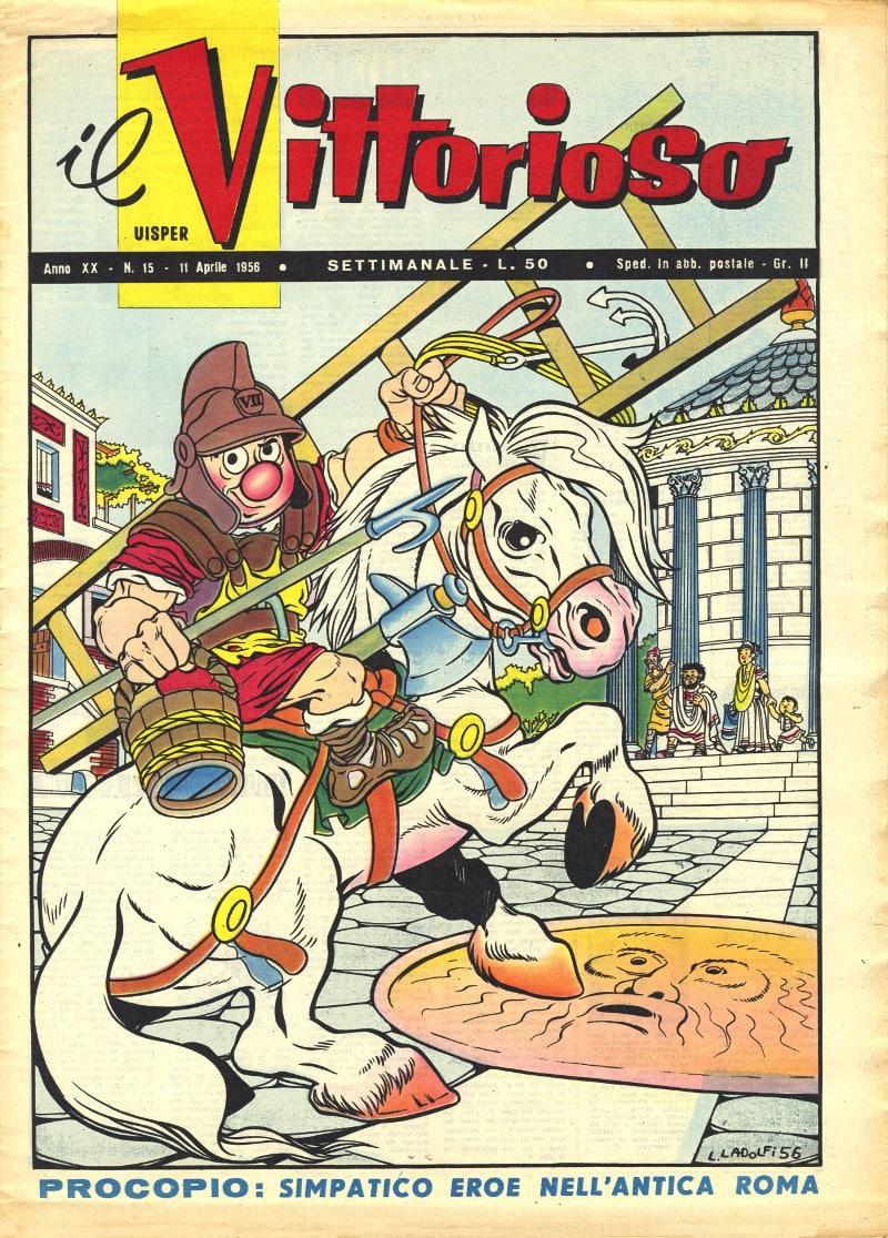 Una copertina disegnata da Lino Landolfi con il suo eroe Procopio