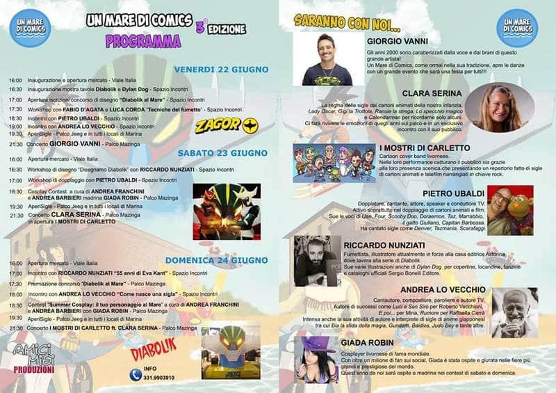 """A Marina di Castagneto 3 giorni di fumetti e cosplay: """"Un mare di comics"""""""