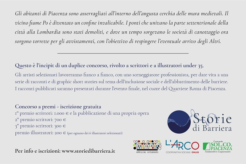 Storie di barriera - Concorso per scrittori e illustratori under 35