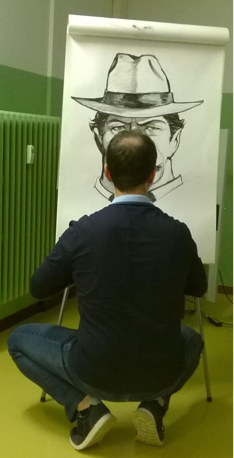 Bisaro disegna Peppone