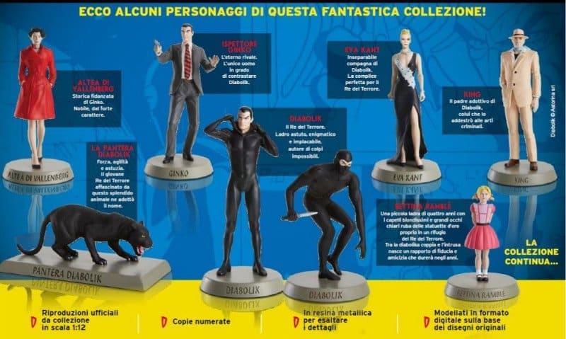 Da Hachette un nuova collezione di statuette di Diabolik