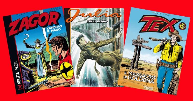 Julia, Zagor e Tex: le nuove uscite in libreria della SBE