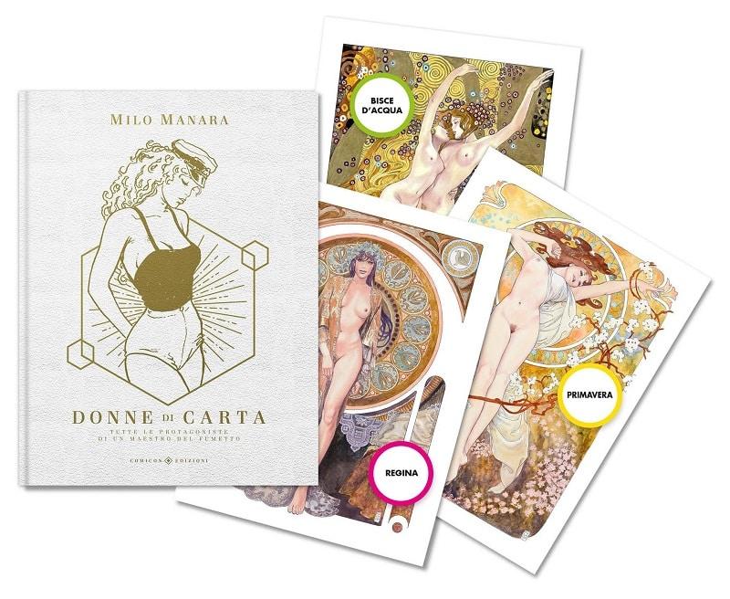 """Comicon Edizioni presenta il volume le """"Donne di Carta"""" di Milo Manara"""